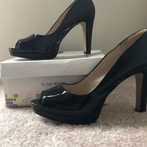 Nine West Patent Leather platform heels